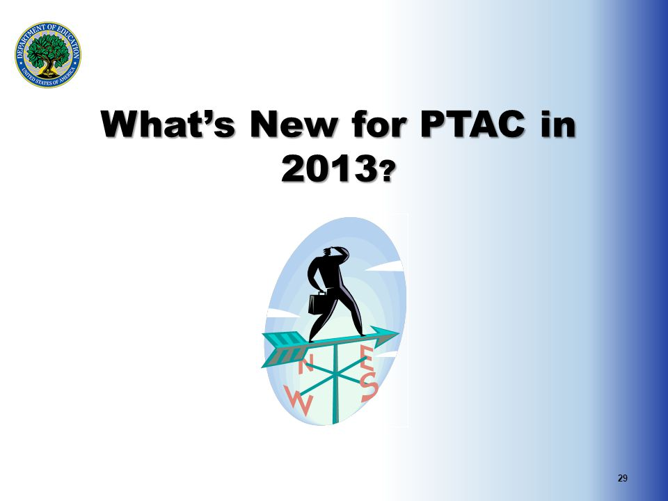 29 What's New for PTAC in 2013