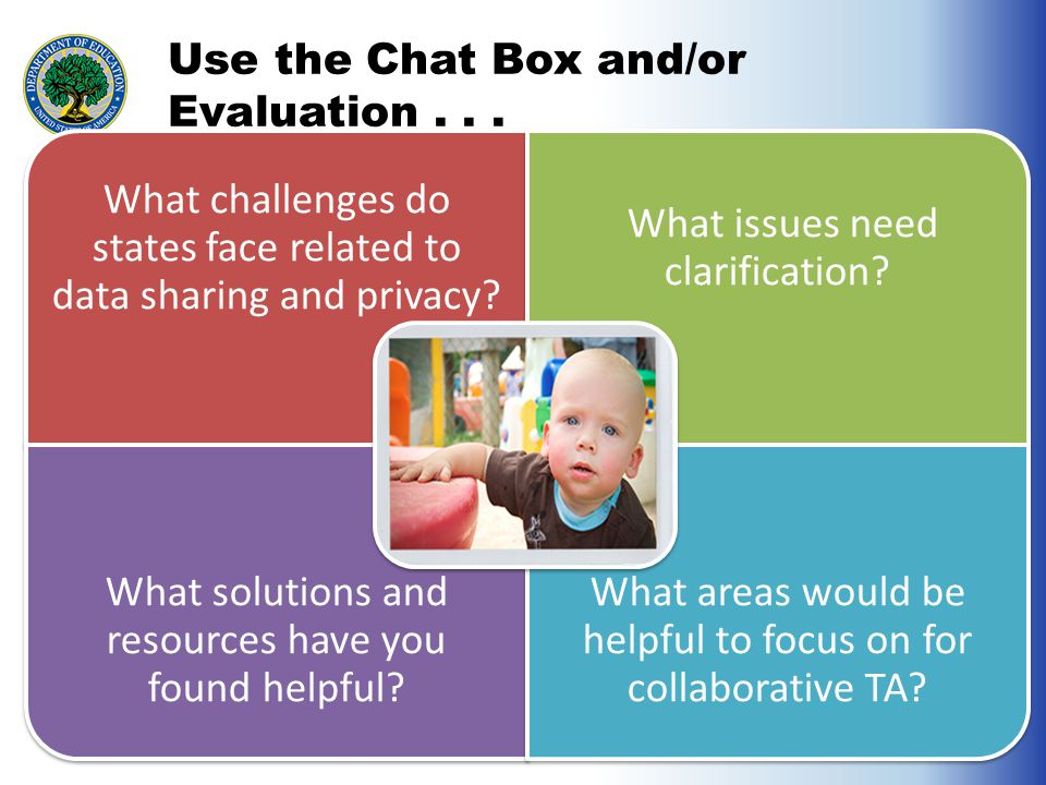 Use the Chat Box and/or Evaluation...
