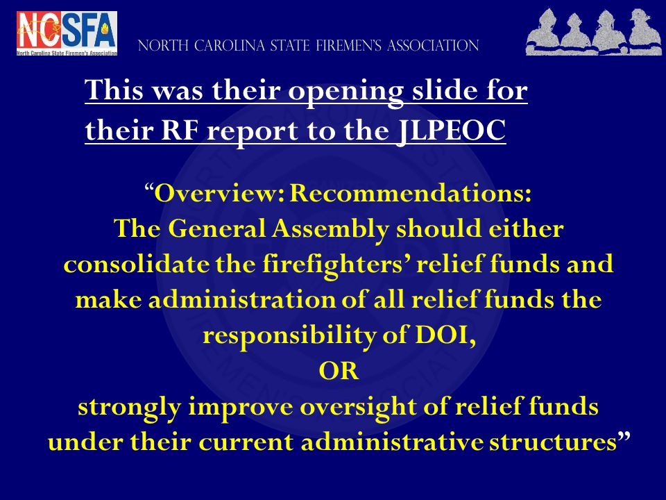 Relief Fund Changes Cont'd No Legislative Restriction On Amount of Spending A local board of trustees shall not be restricted to making disbursements solely from the interest earned on the local board s relief fund .