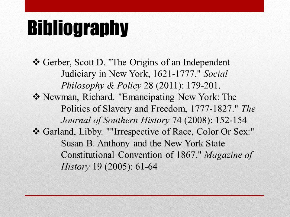 Bibliography  Gerber, Scott D.