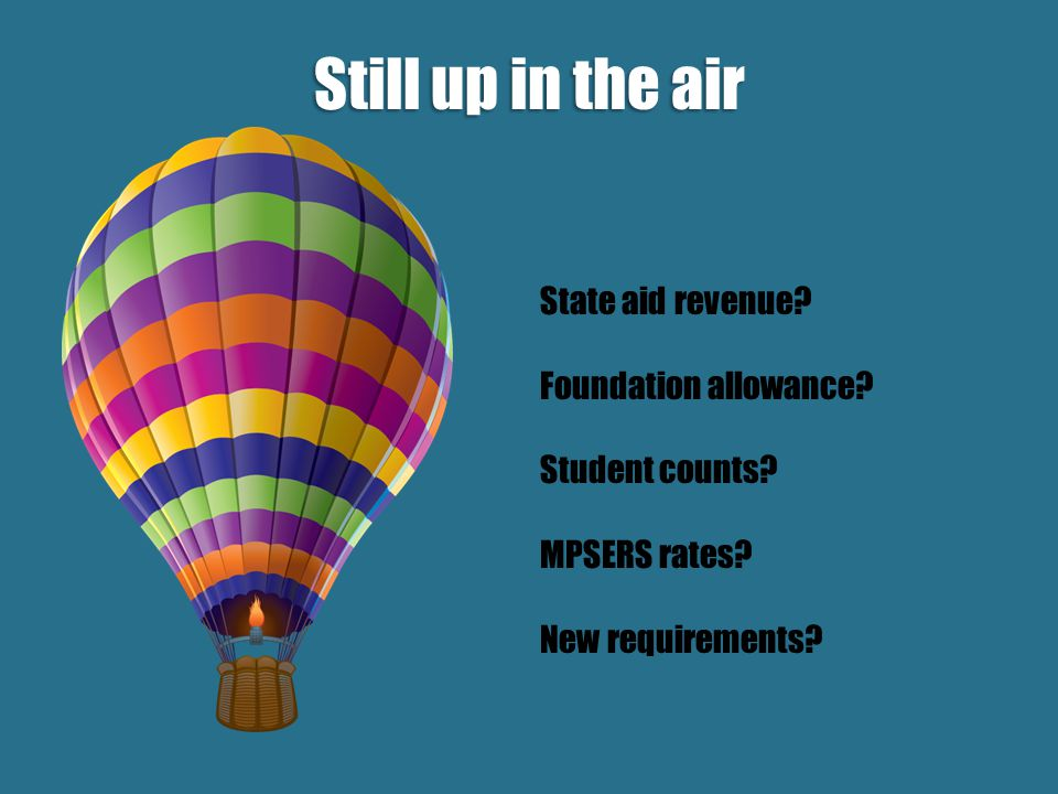 State aid revenue. Foundation allowance. Student counts.