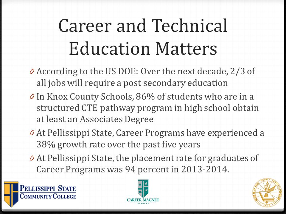 Other Educational Partners at Strawberry Plains Campus 0 East Tennessee State University State-supported regional doctoral-level comprehensive SACS- accredited university 0 Education 0 Ed.D in Educational Leadership 0 Future Programs 0 M.S.