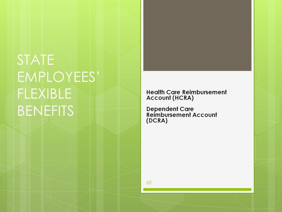STATE EMPLOYEES' FLEXIBLE BENEFITS Health Care Reimbursement Account (HCRA) Dependent Care Reimbursement Account (DCRA) 68