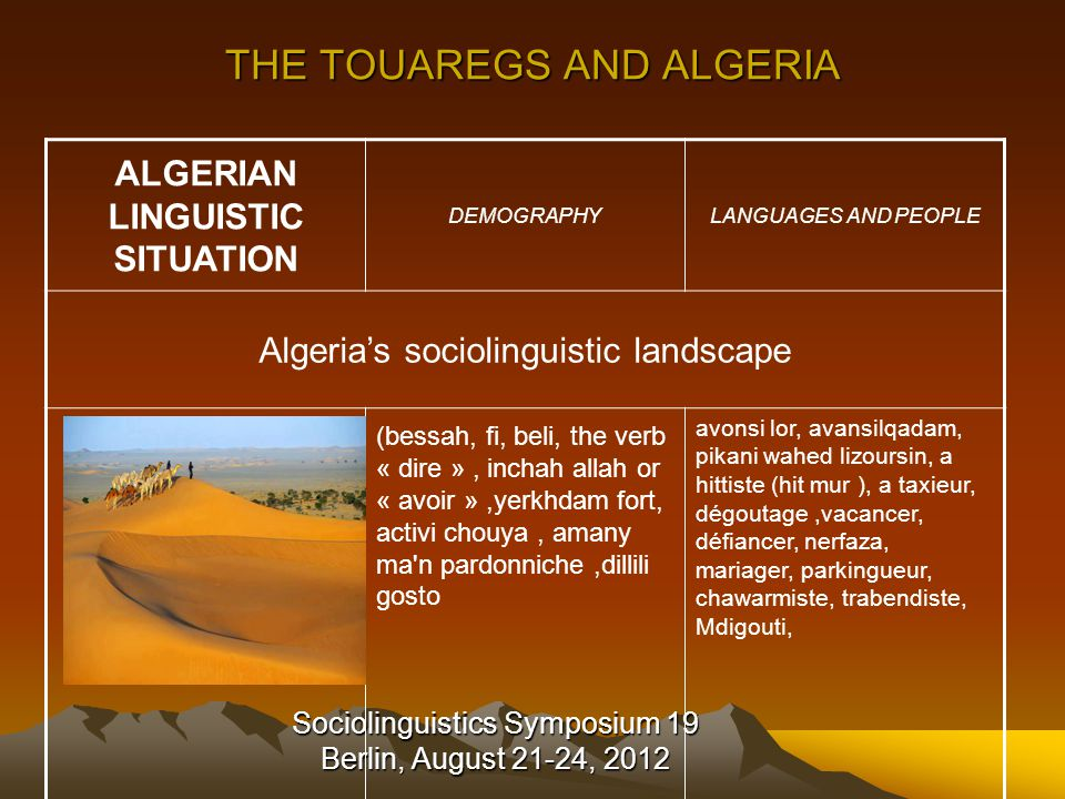 SL19 Berlin Bibliography Abid-Houcine, S.(2006). Plurilinguisme en Algérie, Sidi Bel Abbès.