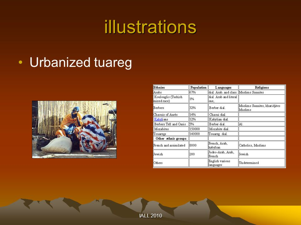illustrations Urbanized tuareg IALL 2010