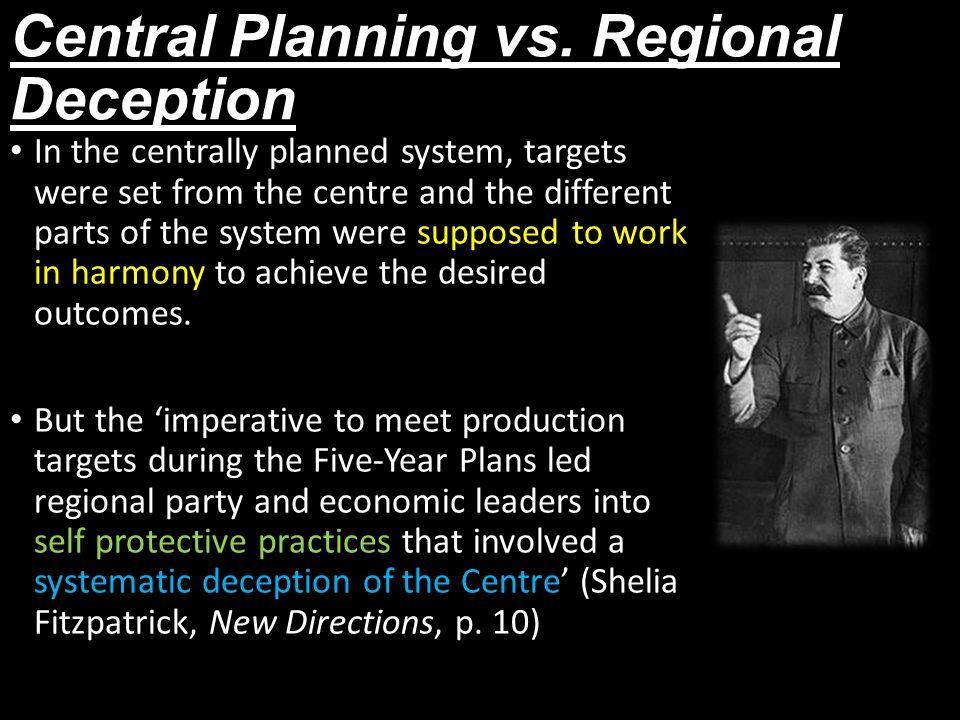 Central Planning vs.