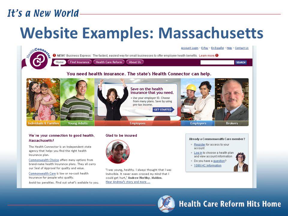 Website Examples: Massachusetts