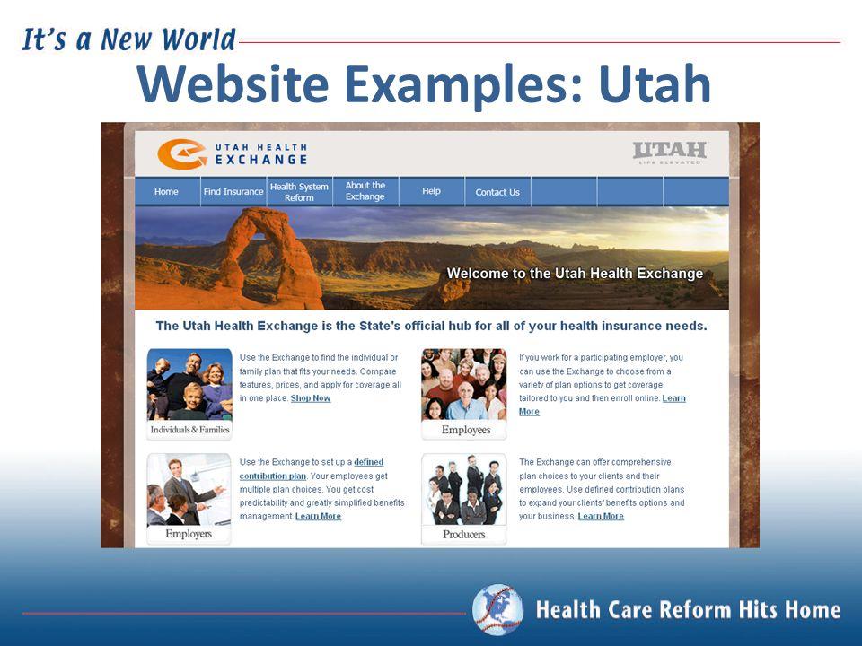 Website Examples: Utah