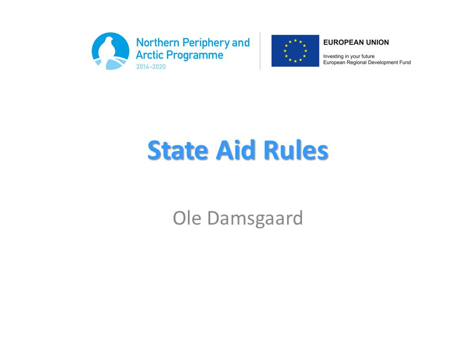 What is state aid.