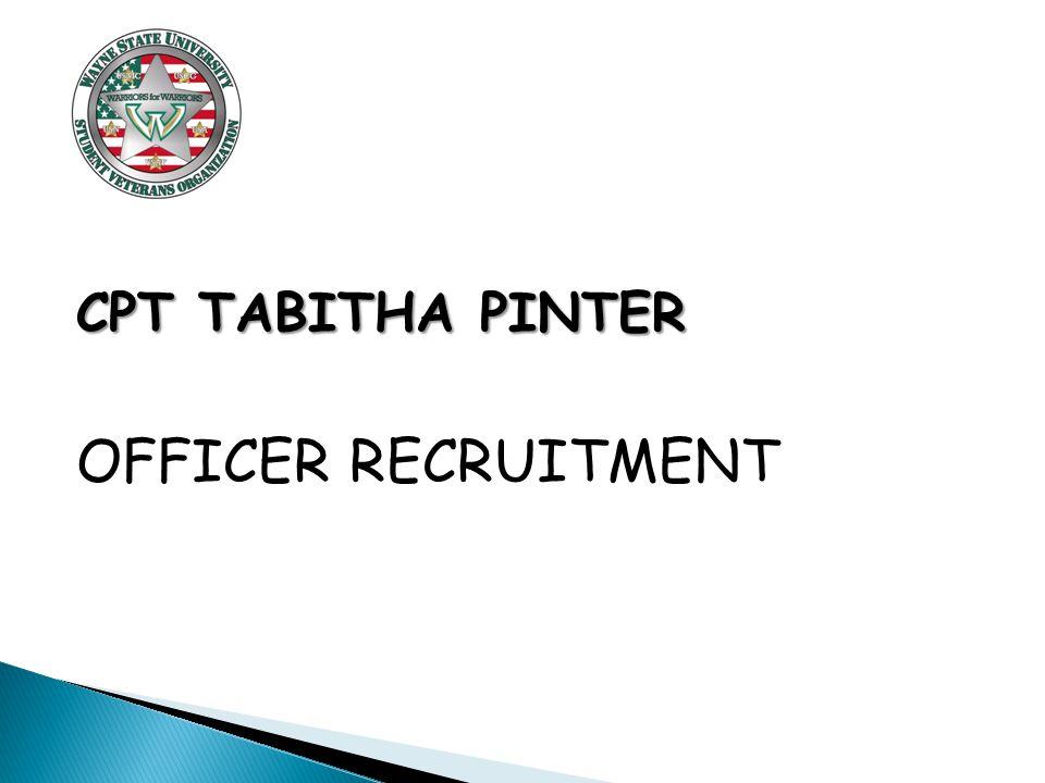 CPT TABITHA PINTER OFFICER RECRUITMENT