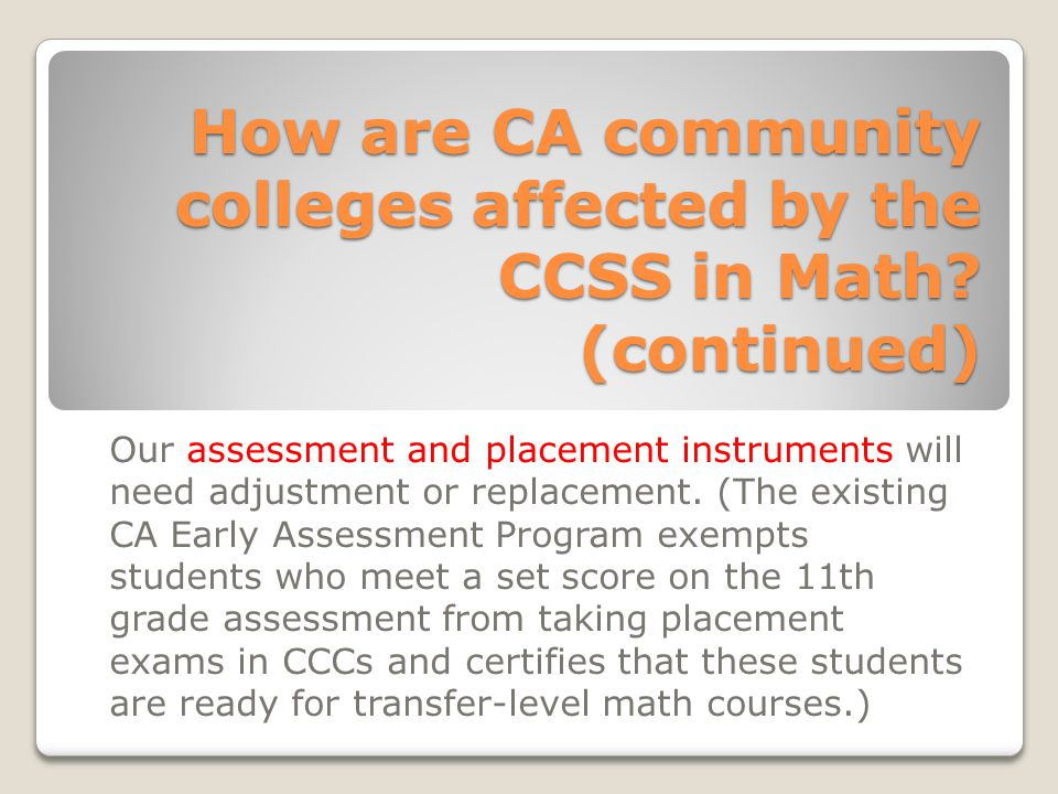 Standards for Mathematical Content There are content standards at each K-8 grade level.