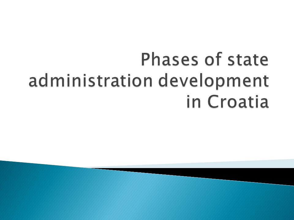  The Croatian public administration was confronted with special circumstances related to its historical development: - The dissolution of the Socialist Federative Republic of Yugoslavia - The struggle for the independence of the Croatian state - The transition from a one-party to a multy-party political system - The transition from an economy based on social ownership to a market economy with mostly private ownership structure - war and destruction