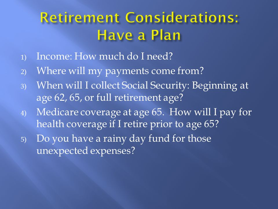 1) Vesting Requirements 2) Employee/Employer Contributions 3) Fund Choice of Variable or Core Account 4) Additional Contributions Options 5) Formula Benefit and Money Purchase Calculation 6) Retirement Age Eligibility 7) Monthly Annuity Distribution Options