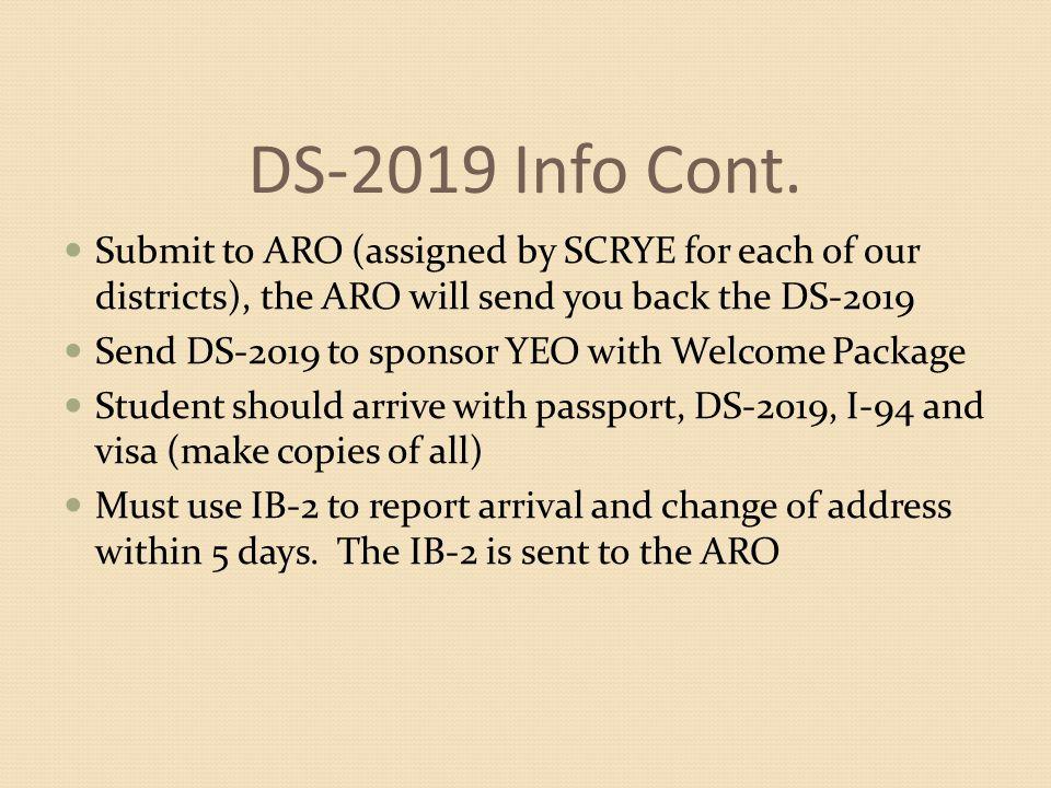 DS-2019 Info Cont.
