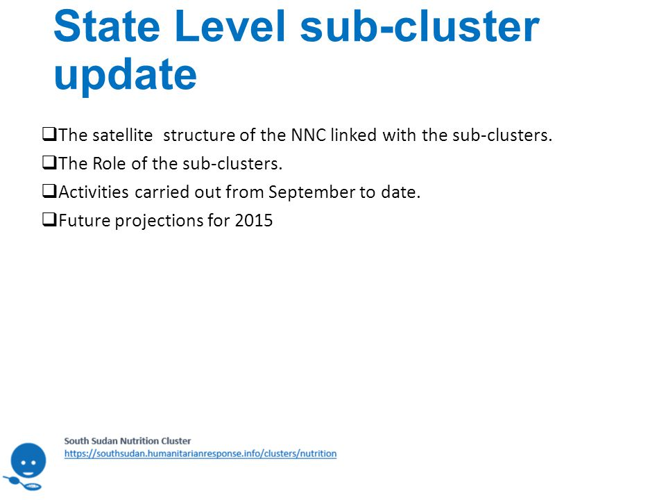 State Level sub-cluster update  The satellite structure of the NNC linked with the sub-clusters.