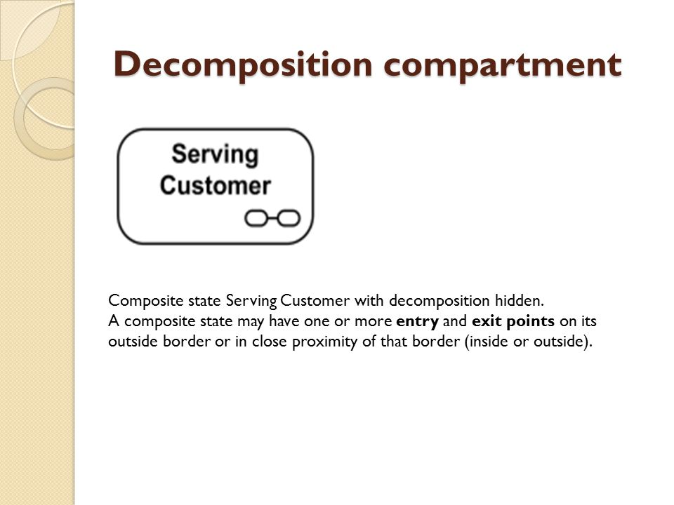 Decomposition compartment Composite state Serving Customer with decomposition hidden.