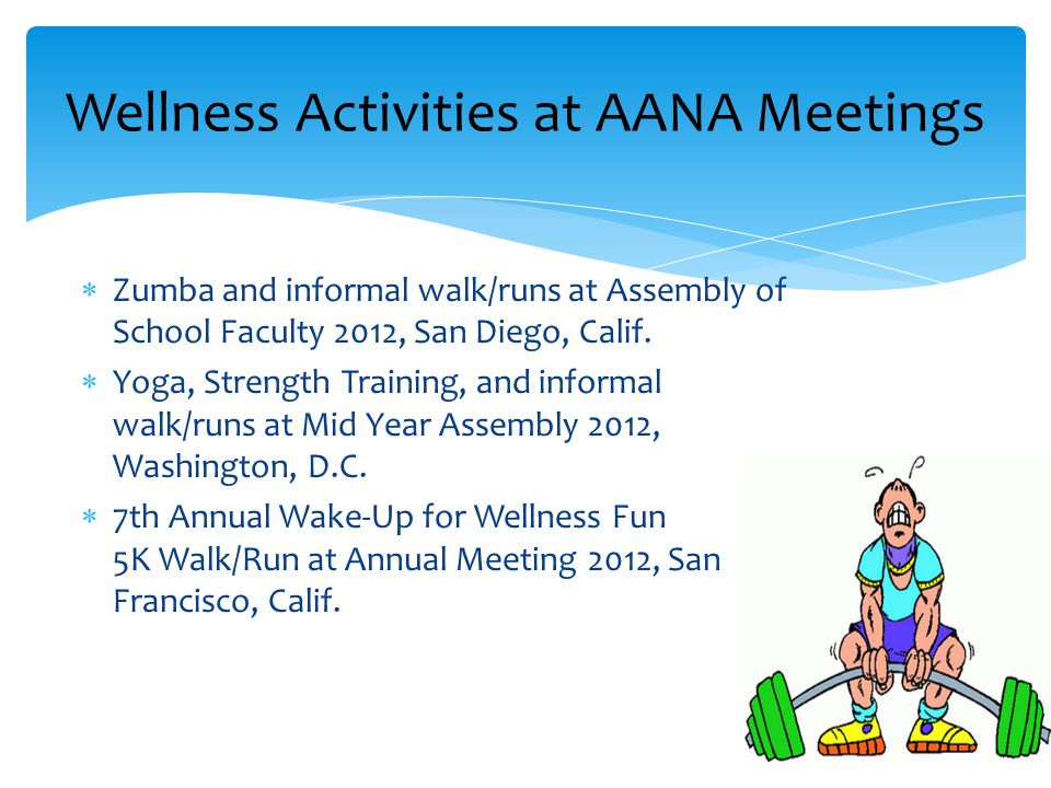  Zumba and informal walk/runs at Assembly of School Faculty 2012, San Diego, Calif.