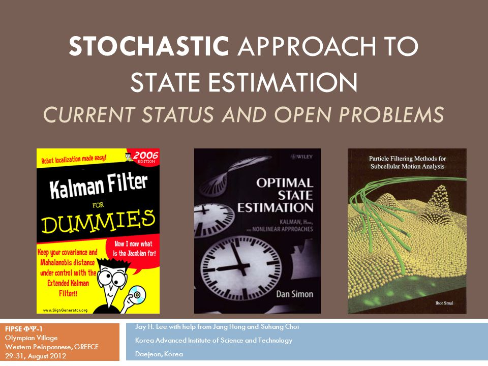 Integration of State Estimation and Control  State estimation giving fuller information (more than a point estimate):  How do we design controllers utilizing the extra information like uncertainty estimates, multiple point estimates, or even the entire distribution.