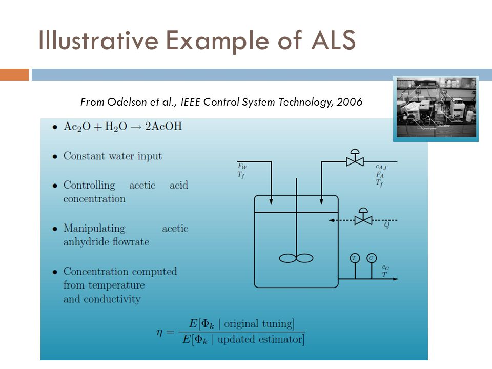 Illustrative Example of ALS From Odelson et al., IEEE Control System Technology, 2006