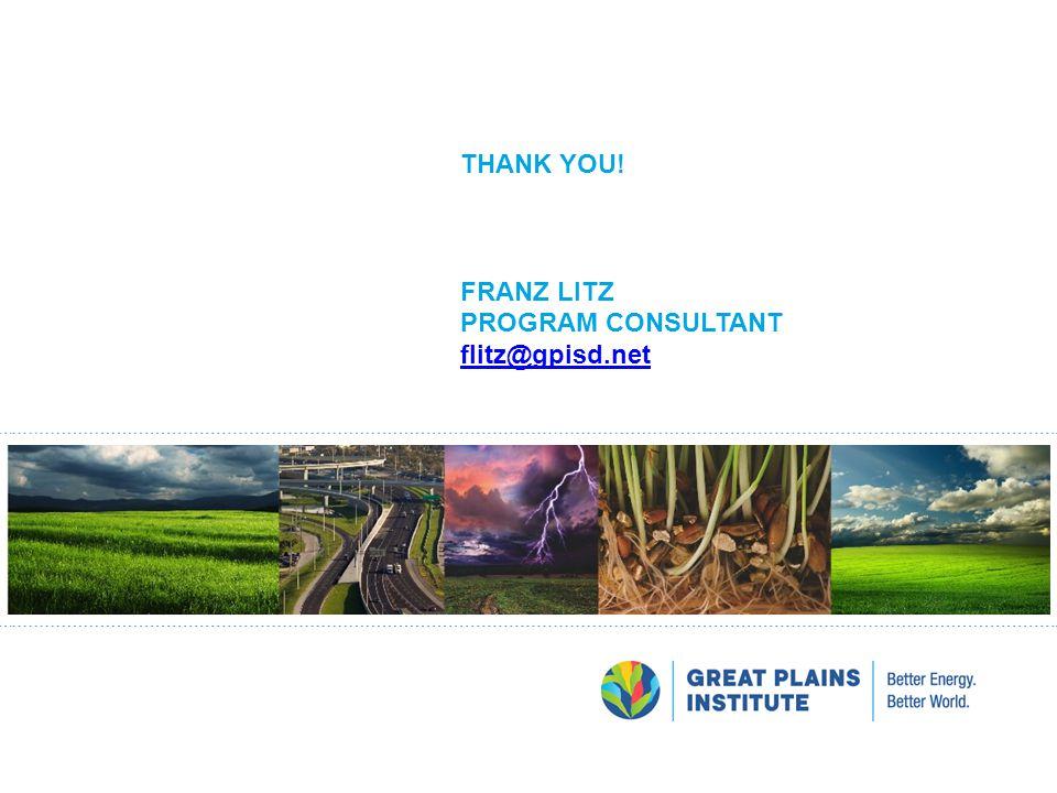 THANK YOU! FRANZ LITZ PROGRAM CONSULTANT flitz@gpisd.net flitz@gpisd.net
