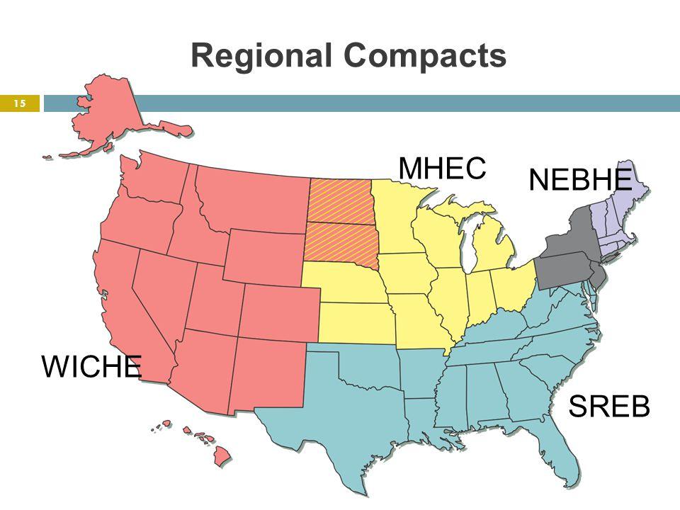 Regional Compacts MHEC NEBHE SREB WICHE 15
