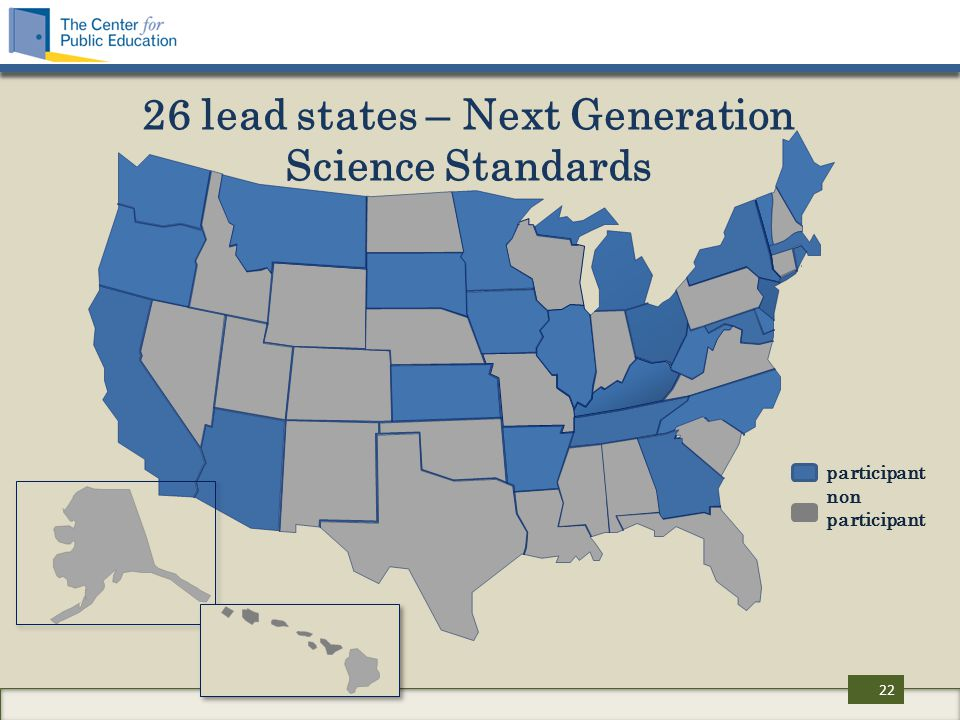 26 lead states – Next Generation Science Standards participant non participant 22