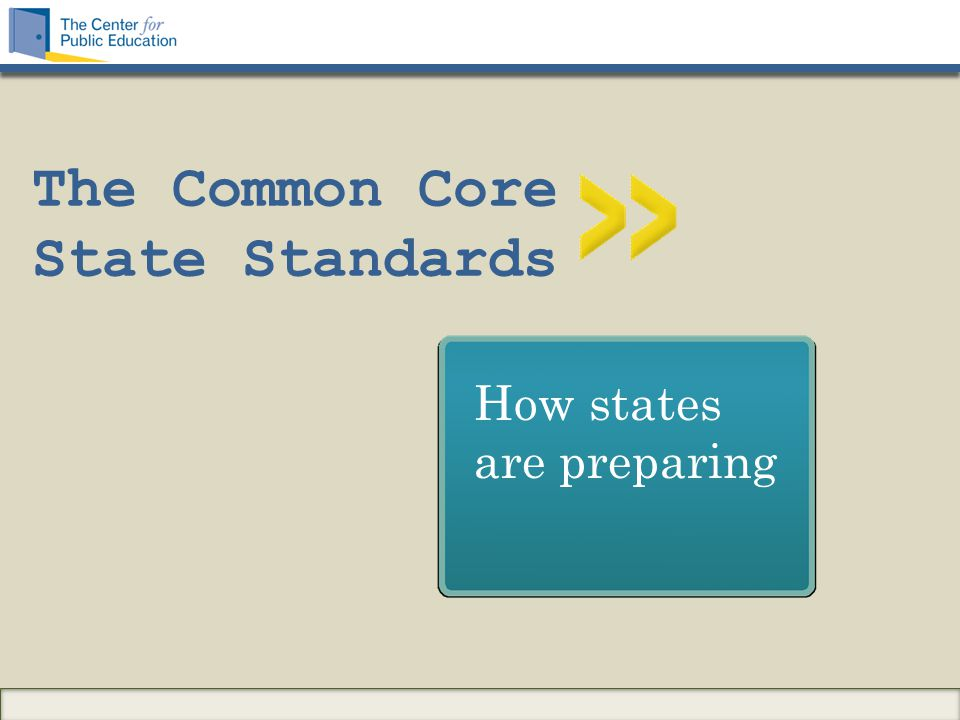 The Common Core State Standards How states are preparing