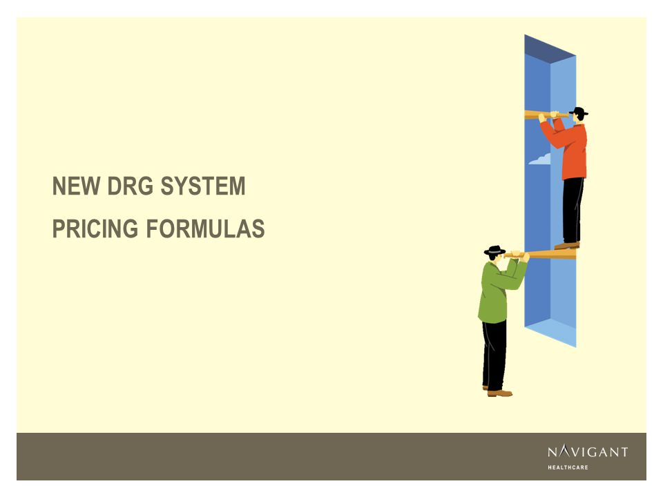 NEW DRG SYSTEM PRICING FORMULAS