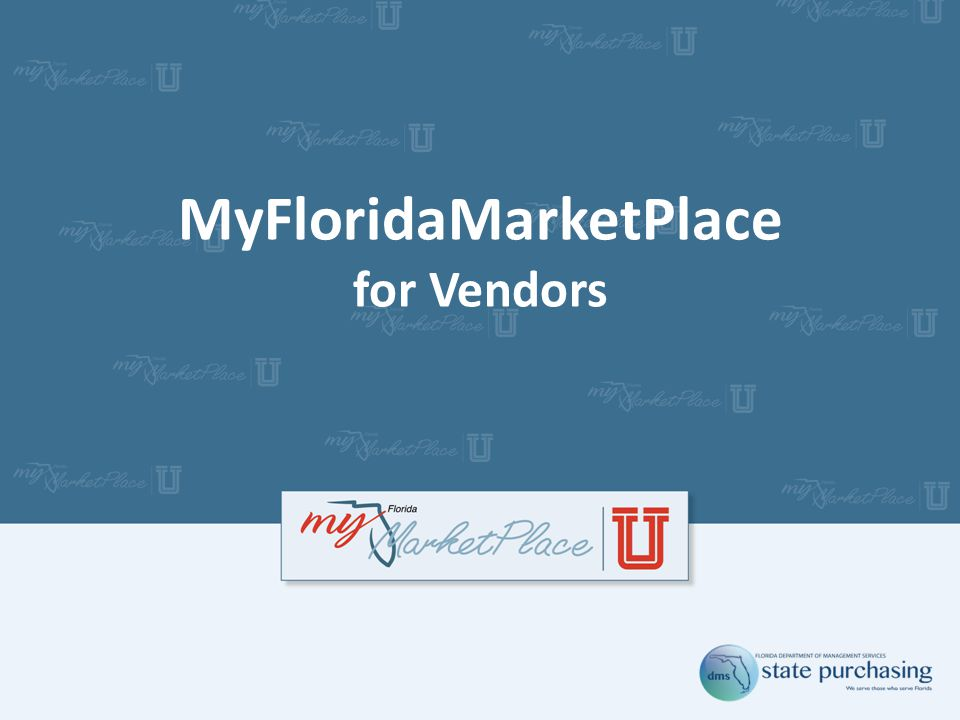 MyFloridaMarketPlace for Vendors
