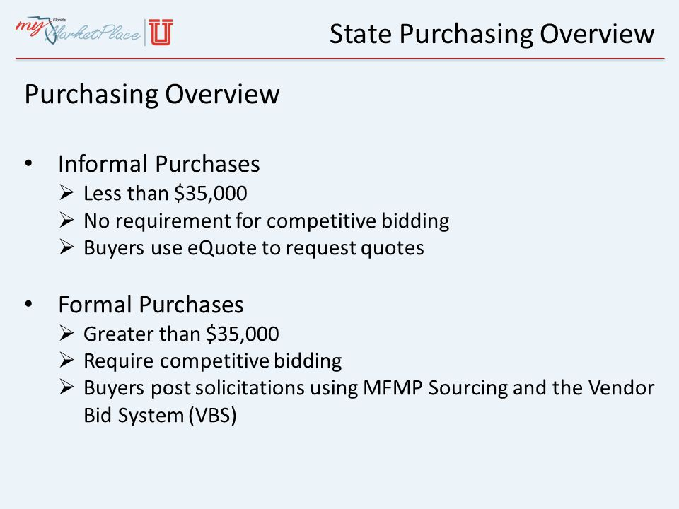 State Purchasing Overview Where does your business fit.