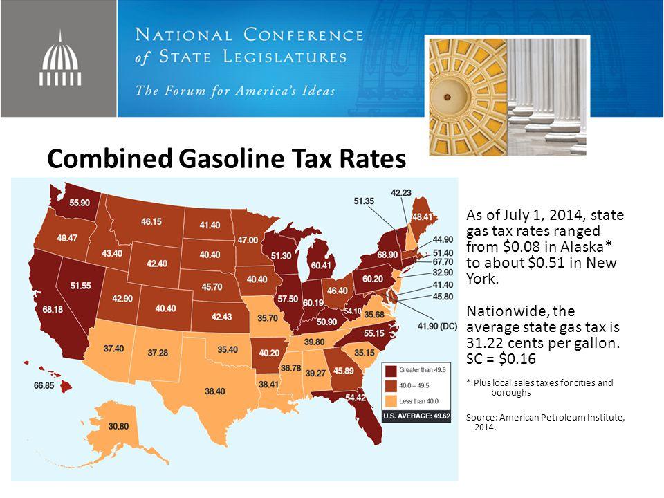 Sources: CSG, 2011; ITEP, 2011 and 2014; American Petroleum Institute, 2014.