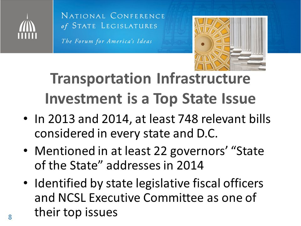 Three Trends as States Seek Sustainable Transportation Funding Putting every option on the table Tracking with the economy Capturing all users 9