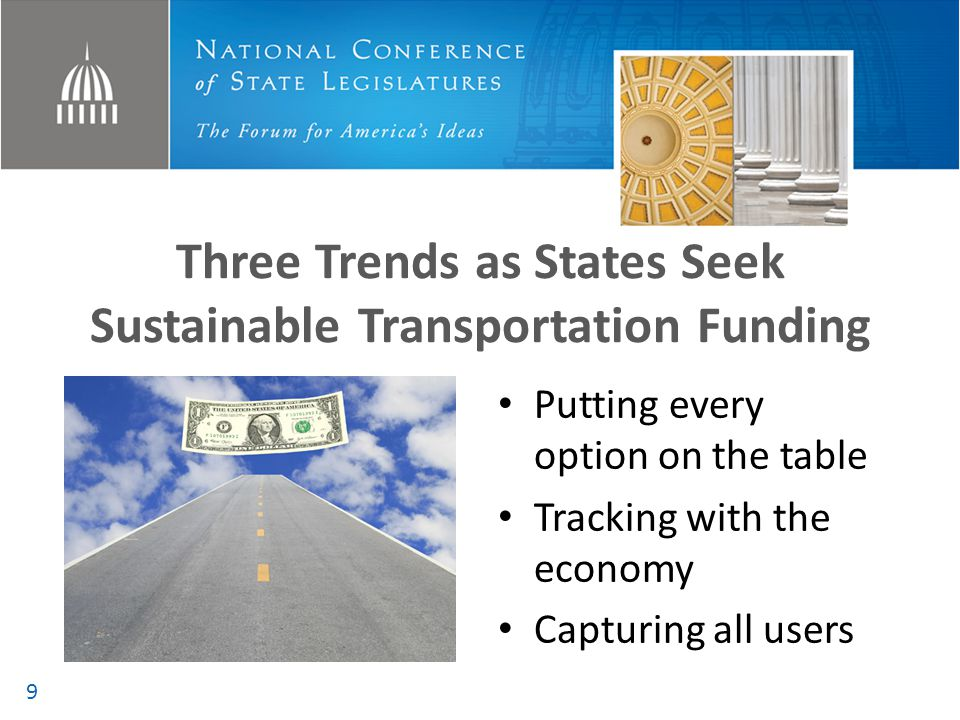 Note: States provide about half of all funding for roads, bridges, rail and transit— compared to the federal contribution of about 20 percent.