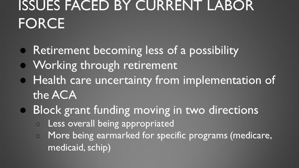 DIFFERENT PROBLEMS FOR DIFFERENT LEVELS HS grad/less than HS face unemployment as well as working poverty: EITC Food stamps/SNAP Housing Subsidies TANF/Job Training Minimum wage Child care issues
