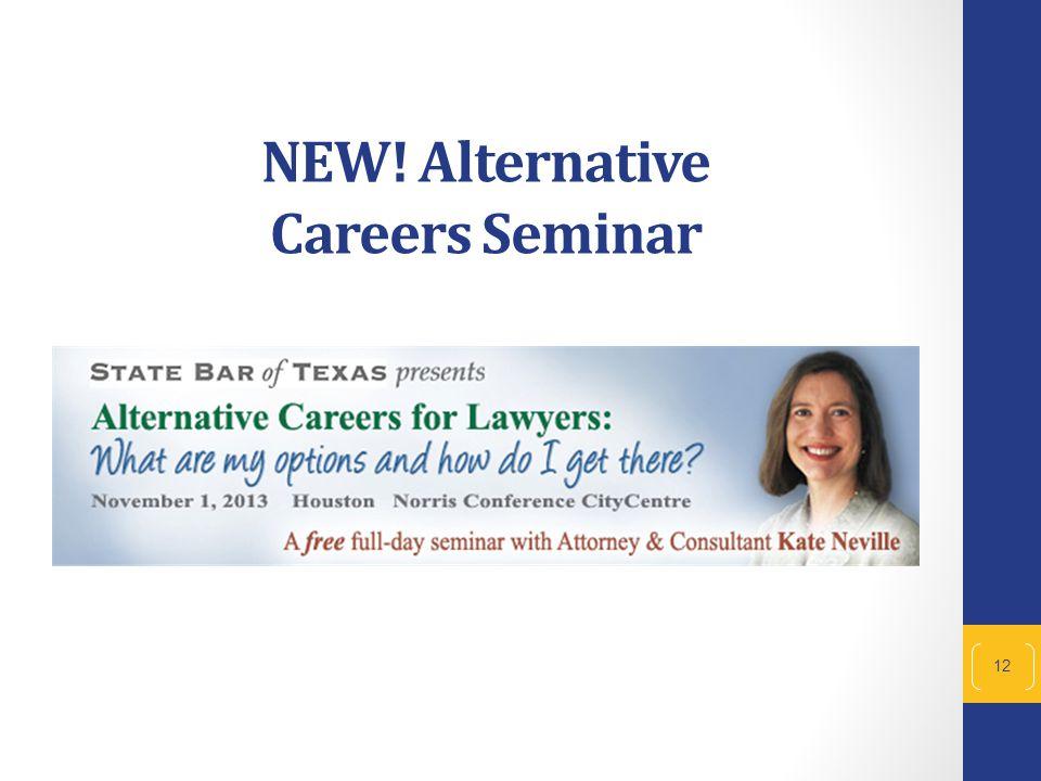 NEW! Alternative Careers Seminar 12