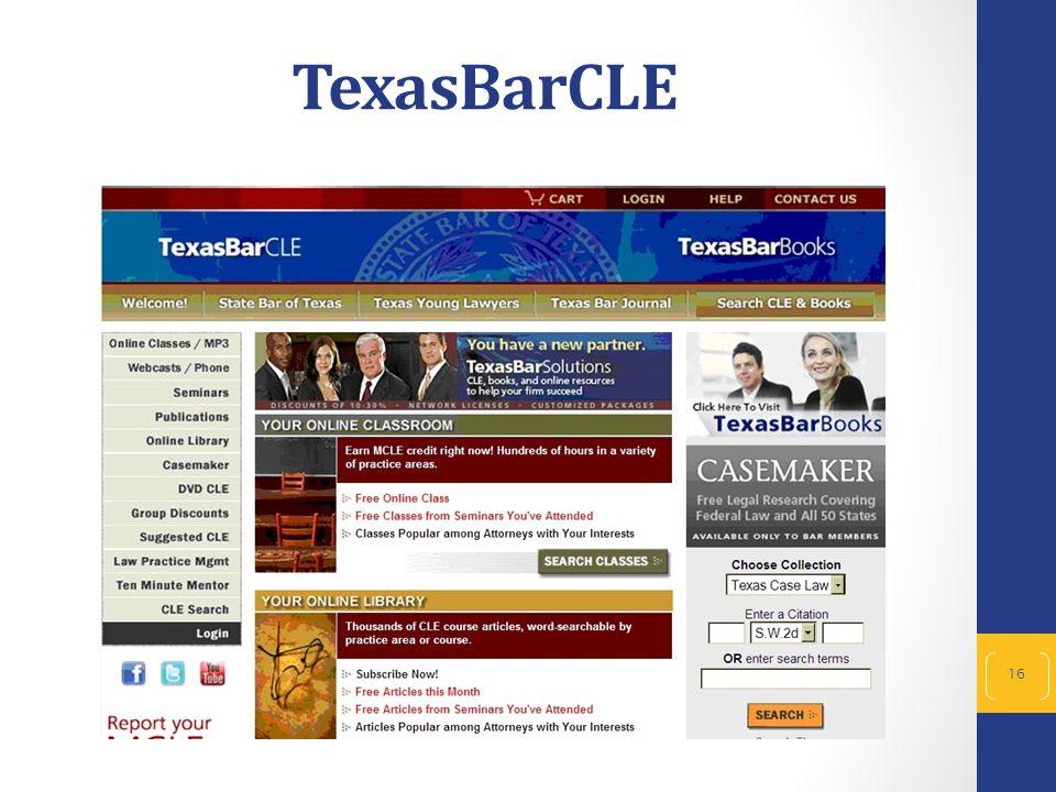 16 TexasBarCLE