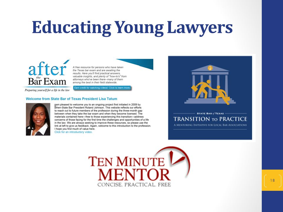 Educating Young Lawyers 18
