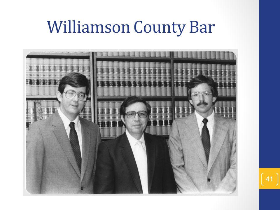 Williamson County Bar 41