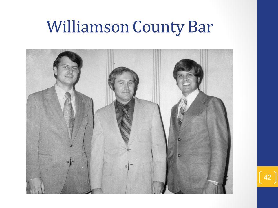 Williamson County Bar 42