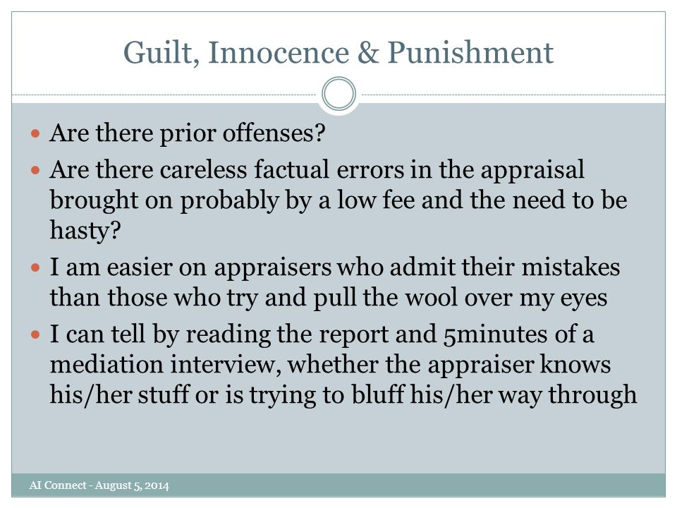 Guilt, Innocence & Punishment Are there prior offenses.