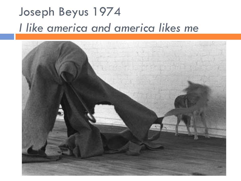 Joseph Beyus 1974 I like america and america likes me