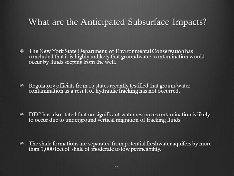 What are the Anticipated Subsurface Impacts.
