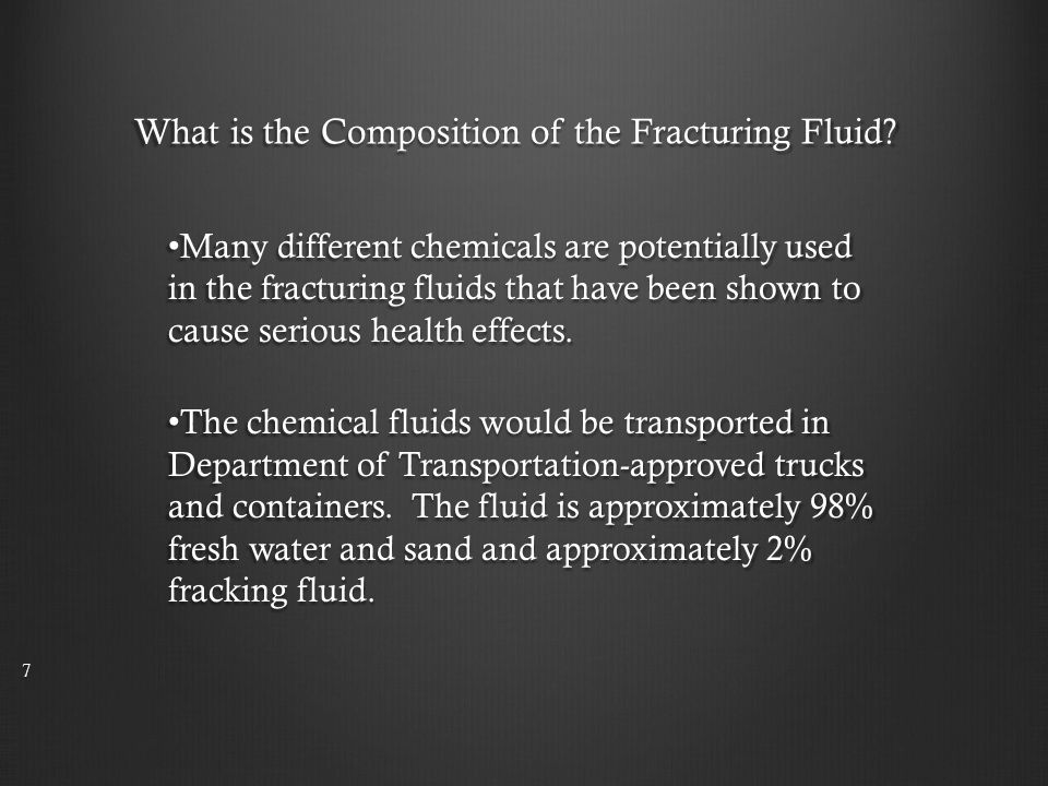 What is the Composition of the Fracturing Fluid.
