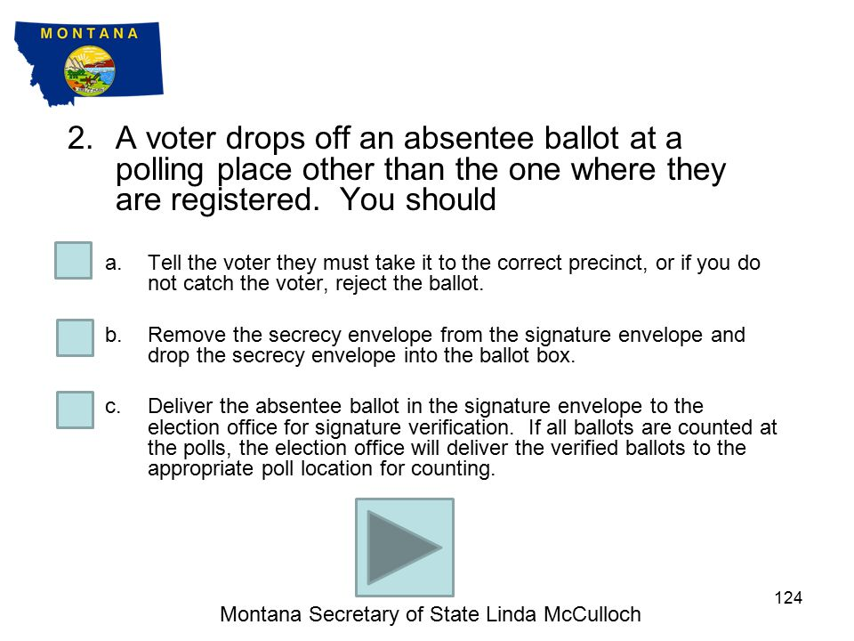1.A voter with a disability chooses to use the AutoMARK to vote, but the AutoMARK does not appear to be working.