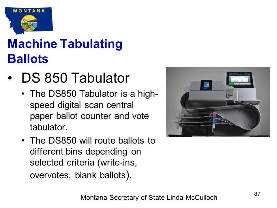 Machine Tabulating Ballots M650 Set-up for Tabulation Ensure that the M650 is on a level and stable surface.