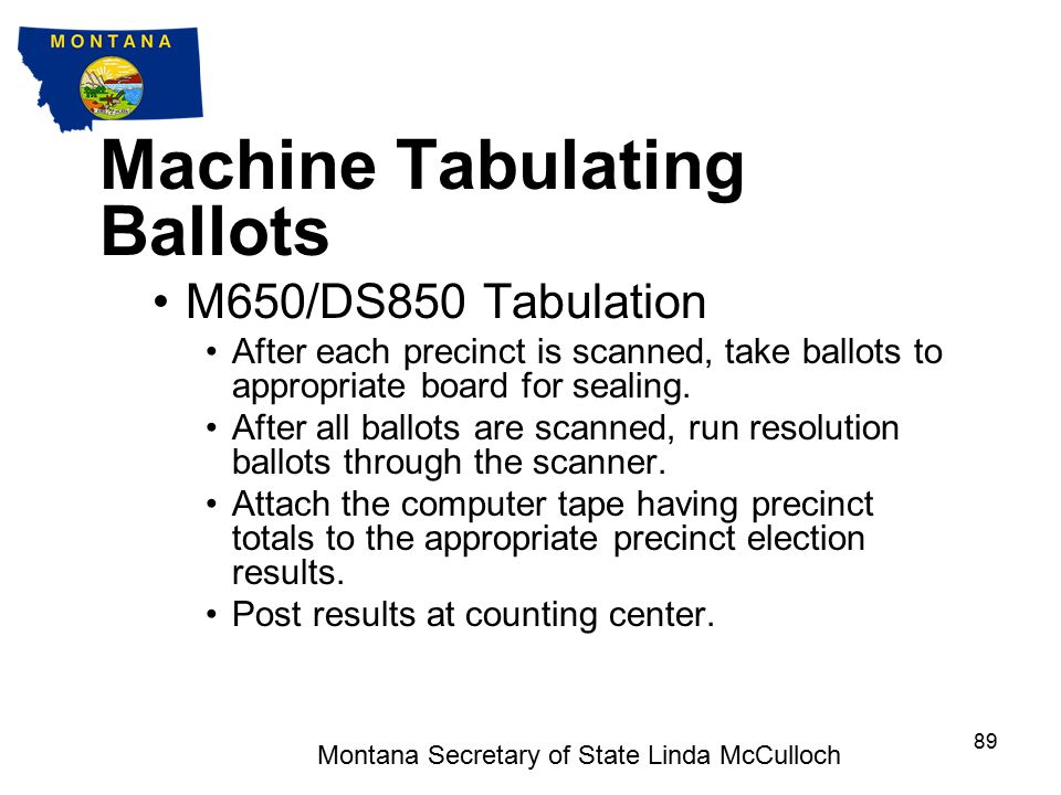 Machine Tabulating Ballots DS 850 Tabulator Set-up Ensure that the DS850 is on a level and stable surface.