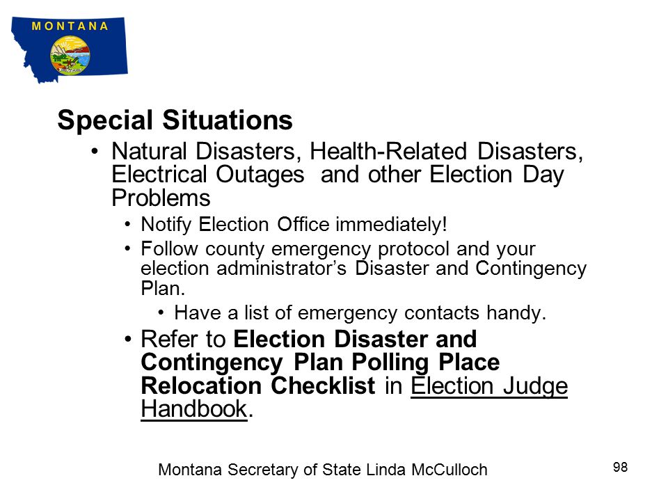 Special Situations Challenges (cont) Challenged individuals should be provided with the Affidavit of Challenged Voter form.