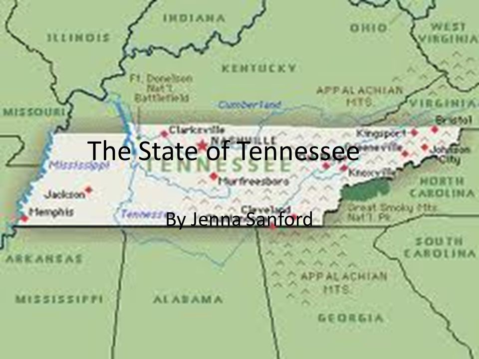 The State of Tennessee By Jenna Sanford