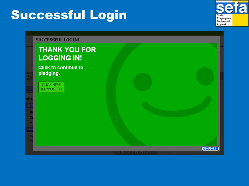 Successful Login