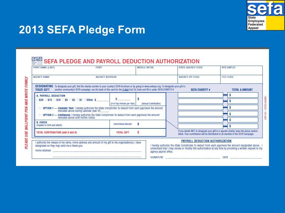 2013 SEFA Pledge Form
